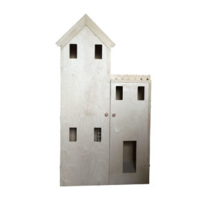 Townhouse wooden barbie doll house kit unfinished