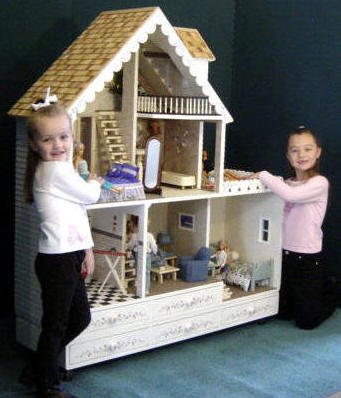 Country Barbie Wooden Dollhouse Kit Martin Dollhouses