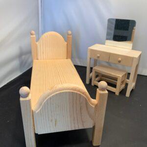 Barbie Wood Bedroom Set