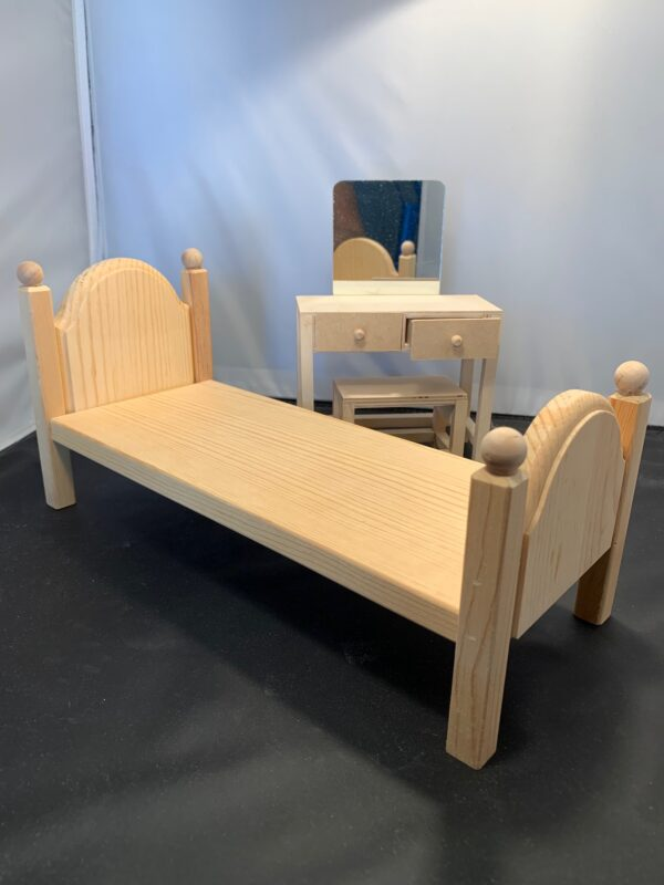 Barbie Bedroom Set, unfinished wood
