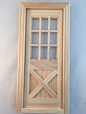 Cross buck door for barbie wooden dollhouse kit