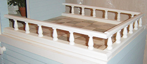 Spindle deck railing for barbie wooden doll house kit