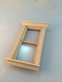 Window for Barbie wooden doll house kit