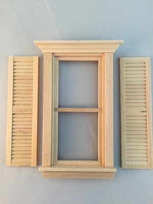 Shutter for barbie wooden doll house kit