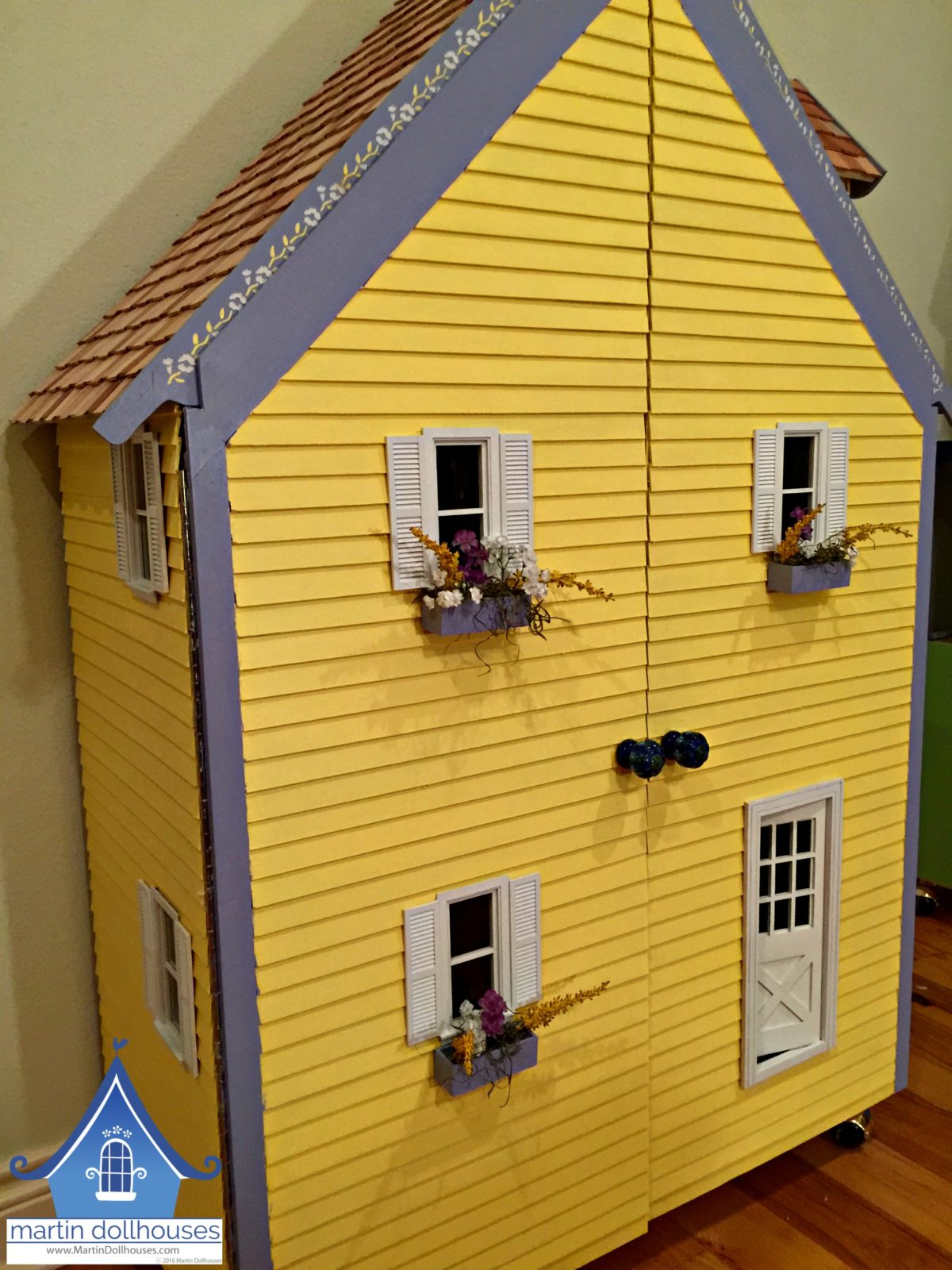 Front of Barbie doll house from Martin Dollhouses