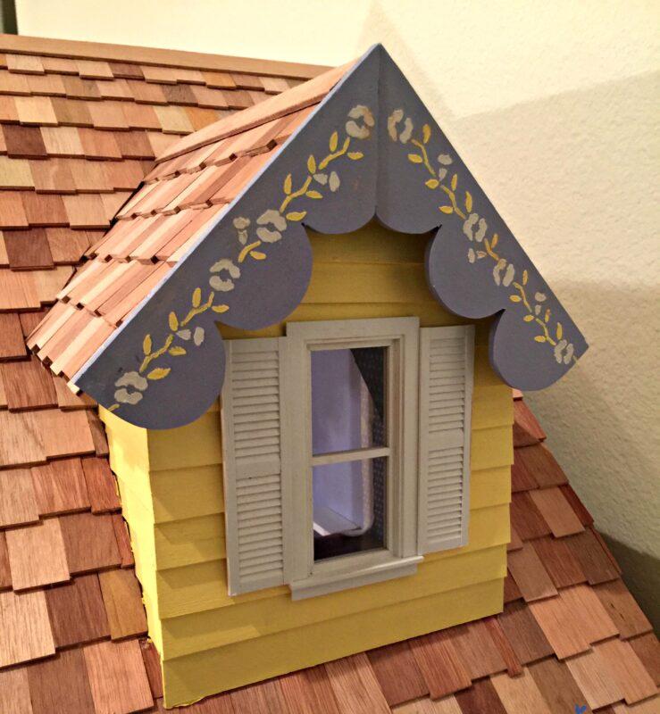 Dormer window on Barbie doll house from Martin Dollhouses