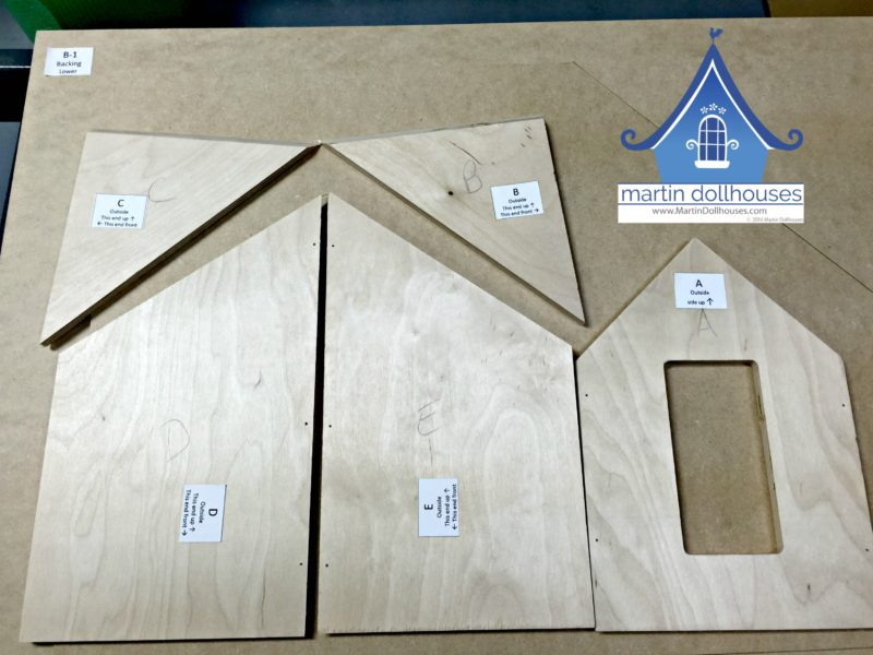 Martin Dollhouse dormer window pieces for Barbie wood dollhouse.