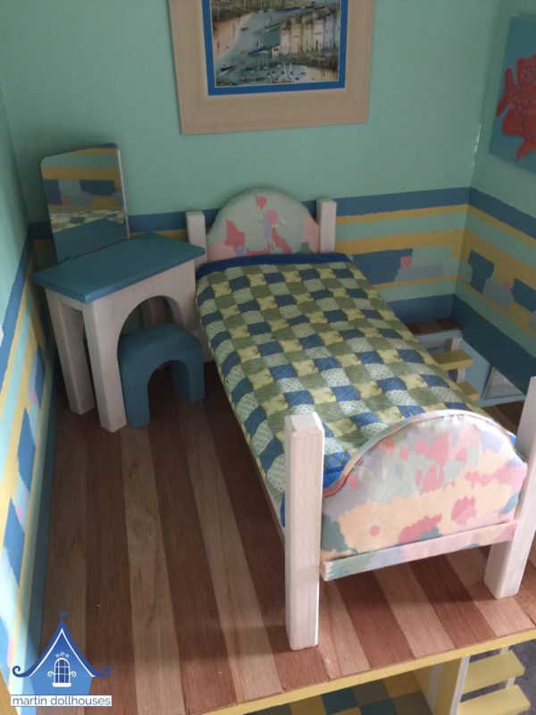 DIY Barbie Bedding fabric that mimics a quilt