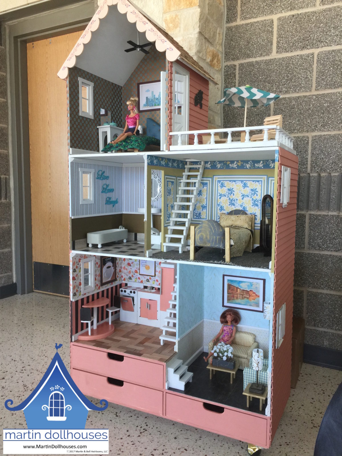 Barbie wooden townhouse donated