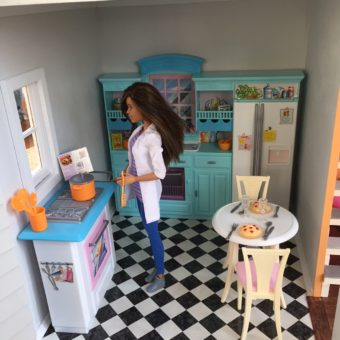 Wooden Barbie Country Dollhouse Kitchen