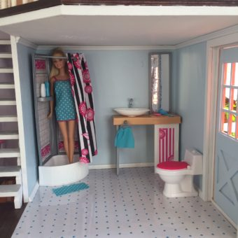 Wooden Barbie Country Dollhouse Bathroom