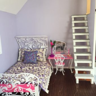 Wooden Barbie Country Dollhouse Bedroom