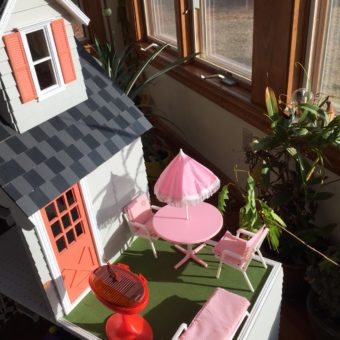 Wooden Barbie Country Dollhouse Patio