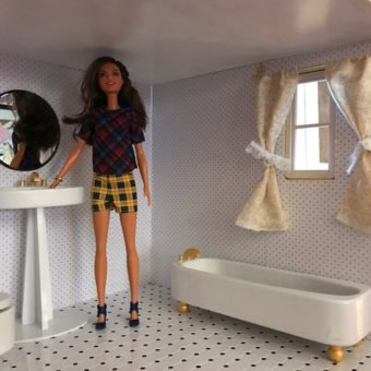 Wooden Barbie Alpine Dollhouse Bathroom