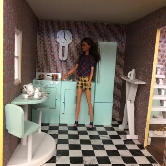 Wooden Barbie Alpine Dollhouse Kitchen