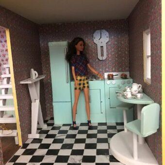 Wooden Barbie Alpine Dollhouse Kitchen