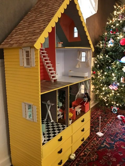 wooden barbie alpine dollhouse with extra drawers - Dollhouse Christmas Decorations