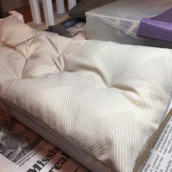 Making progress of Barbie Doll Bed Mattress