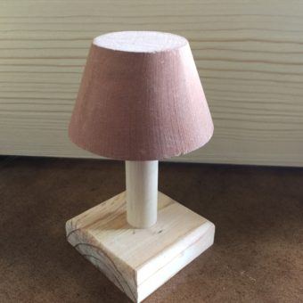 Older version of Barbie dollhouse lamp all wood